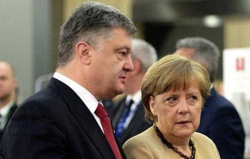 Порошенко и Меркел