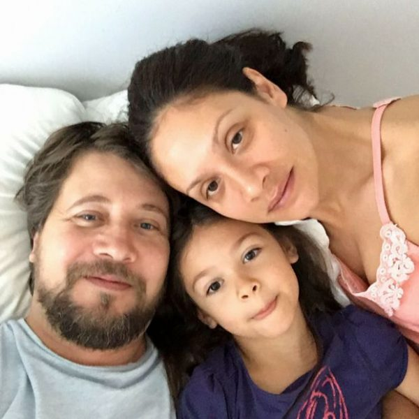 Мариана и Ханес със 7-годишната им дъщеря Мария - Магдалена!